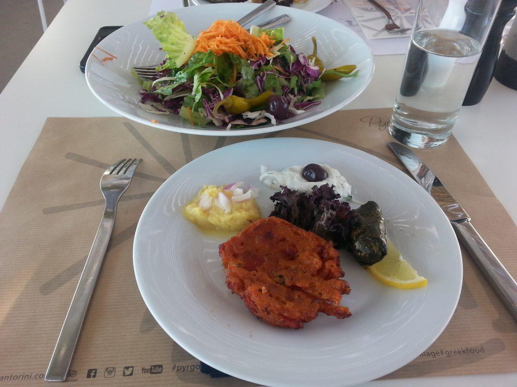 Santorini Spezialitäten, griechische Küche
