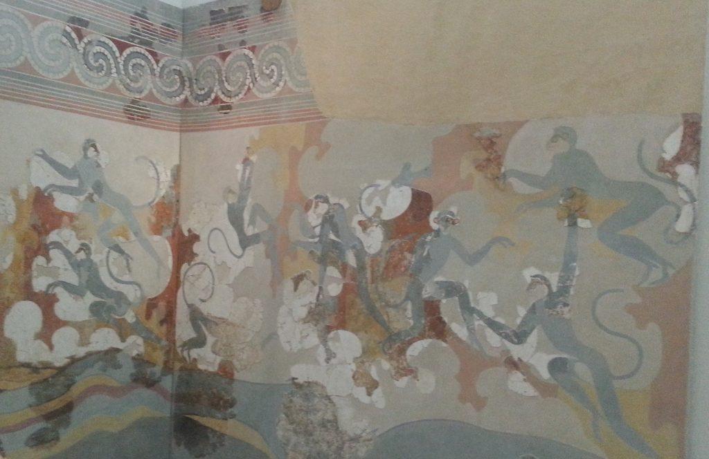 Akrotiri Wandgemälde, Santorini