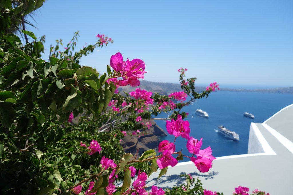 Kreufahrtschiffe Santorini