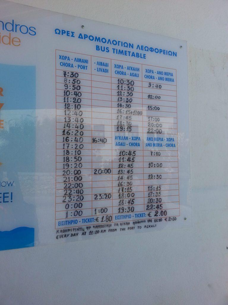 Busplan Folegandros